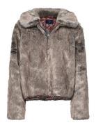 Boho Faux Fur Jacket Outerwear Faux Fur Lila SUPERDRY