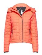 Hooded Box Quilt Fuji Jacket Steppjacke Orange SUPERDRY