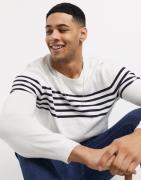 Esprit – Gestreifter Pullover in Weiß und Marineblau